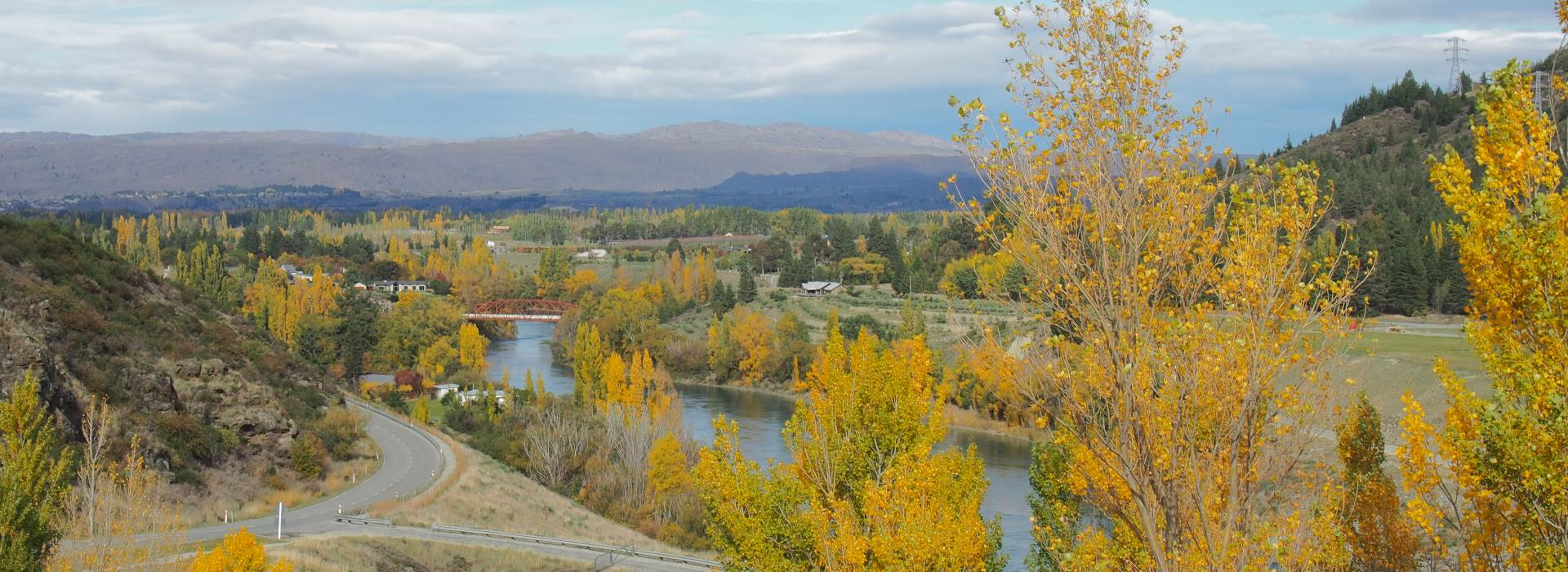 View of the Clutha River taken from the Clyde Dam.